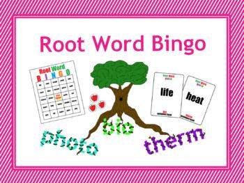 Root Word Bingo