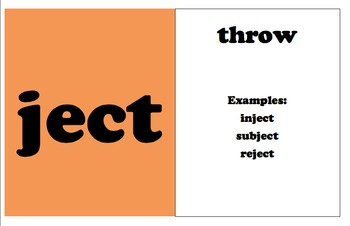 Root Word Cards Volume 1