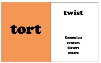 Root Word Cards Volume 2