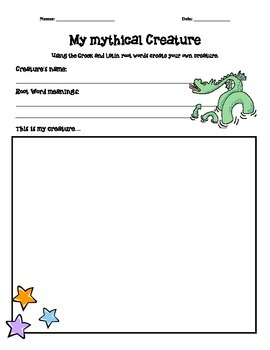 Root Word Creatures - fun vocabulary and spelling activity!
