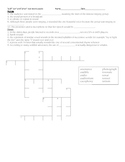 Root Word Crossword Puzzles