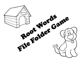 Root Word File Folder Game