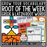 Greek & Latin Root Words Activity 4th Grade, 5th Grade - Vocabulary Activities