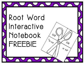 Root Word Interactive Notebook FREEBIE