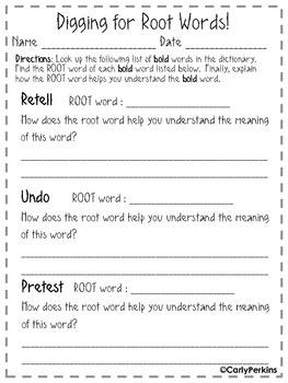 Root Word Practice