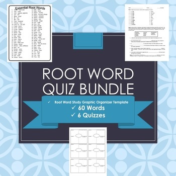 Root Word Quiz Bundle - 60 Root Words - 6 quizzes