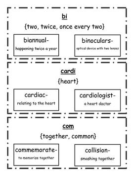 Root Word Study