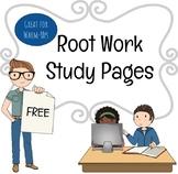Root Word Study Worksheet