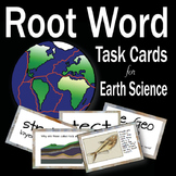 Earth Science Root Word Vocabulary Task Cards