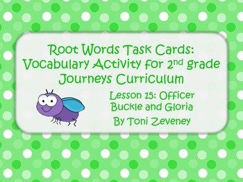 Root Word Task Cards for Journeys Grade 2