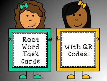 Root Word Task Cards with QR Codes