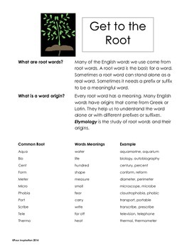 Get to the Root