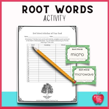 Root Words Activity