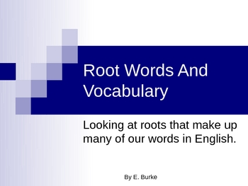 Root Words And Vocabulary