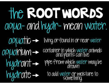 Root Words: Aqua- & Hydr-