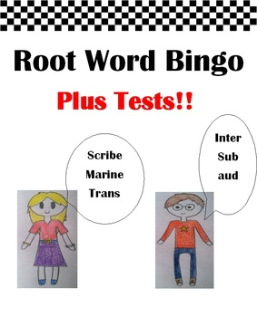 Root Words Bingo!! Plus Root Word TESTS!