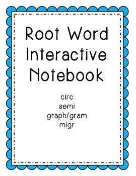 Root Words Interactive Notebook Set 1