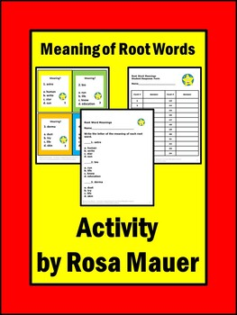 Root Words Task Cards