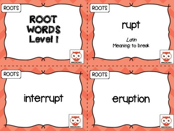 Root Words Level 1