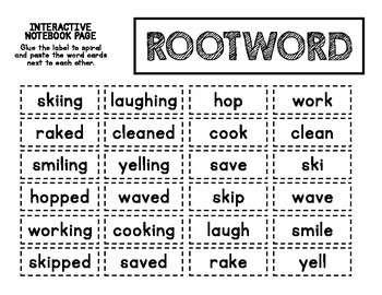 ELA Mini Lesson - Root Words