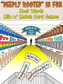 Root Words Mix n' Match Game Cards