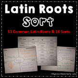 Latin Root Words Sort Activities