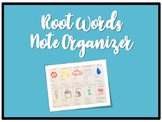 Root Words Note Organizer