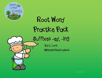 Root Words Practice for Suffixes -ed and -ing