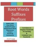Root Words, Prefixes & Suffixes - VA SOL & Common Core