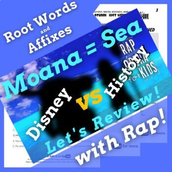 Root Words Prefixes and Suffixes Worksheets with Reading Passage Using Rap Song