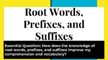 Root Words, Prefixes, and Affixes