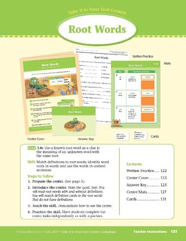 Root Words (Take It to Your Seat Centers: Common Core Language)