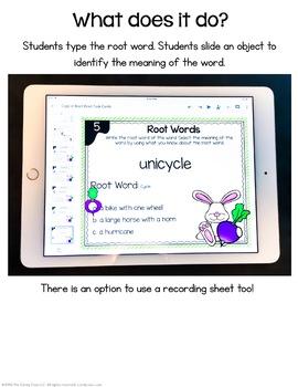 Root Words Digital Task Cards - Paperless Option
