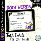 Root Words Digital Task Cards: 2nd Grade Google Classroom