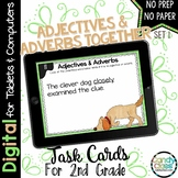 Adjectives & Adverbs -Set 1- Digital Task Cards - Paperles