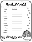 Root Words Worksheet Root Words, Prefixes, and Suffixes Worksheet Roots #1