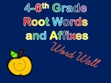 Root Words and Affixes Word Wall