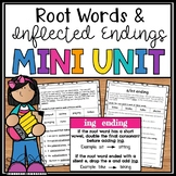 Root Words and Inflectional Endings - s, ed, ing- Great for Home Learning Packet
