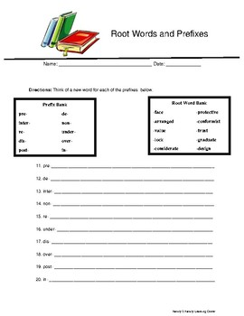 Root Words and Prefixes