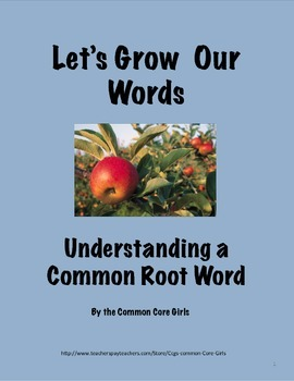 Root Words at Work: Help Students Understand Words in all Subject Areas!