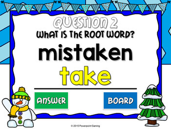 Root Words in Prefixes and Suffixes Mini Game