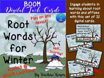 Root Words with BOOM Digital Task Cards for the Winter
