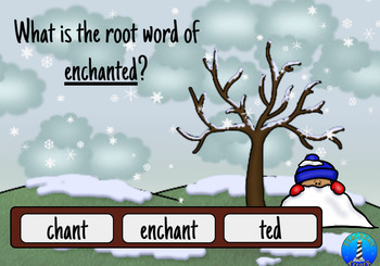 Root Words with BOOM Digital Task Cards for the Winter: