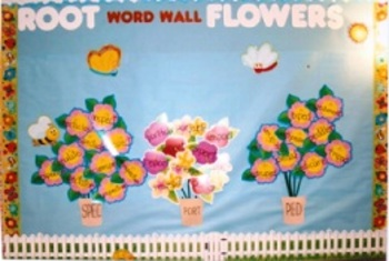 Root Words word wall/bulletin board