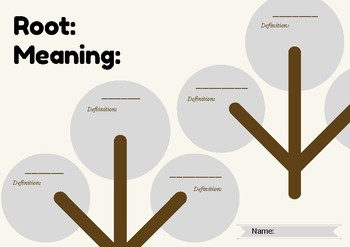 Root and meaning trees