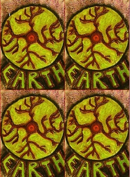 Rooted Elements Earth and Fire Monkey Yoga Cards