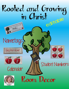 Rooted and Growing in Christ Room Decor
