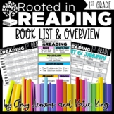 Rooted in Reading 1st Grade:  Book List, Overview, Cover Pages, & Binder Spines
