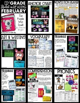 Rooted in Reading 1st Grade:  February Read Aloud Lesson Plans and Activities
