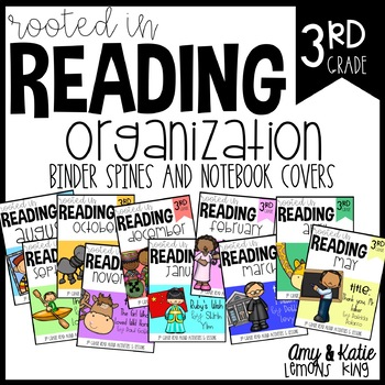 Rooted in Reading:  3rd Grade Notebook Covers and Binder Spines